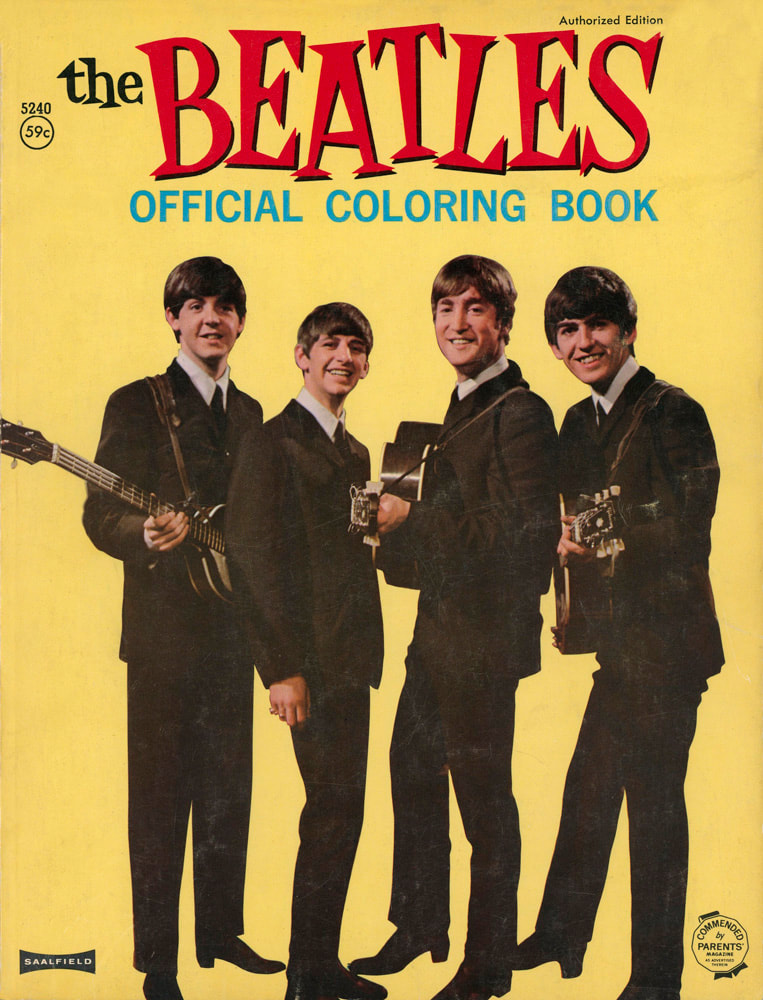 1964 - The Beatles Official Coloring Book by The Saalfield Publishing Company