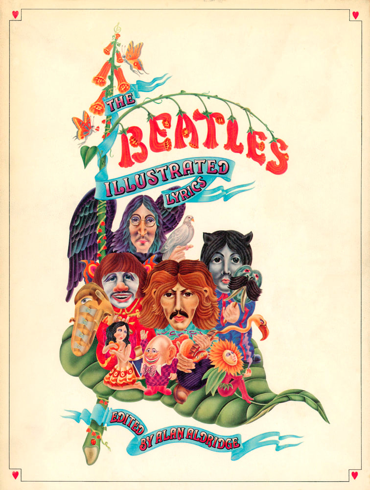 1969 The Beatles Illustrated Lyrics by Alan Aldridge