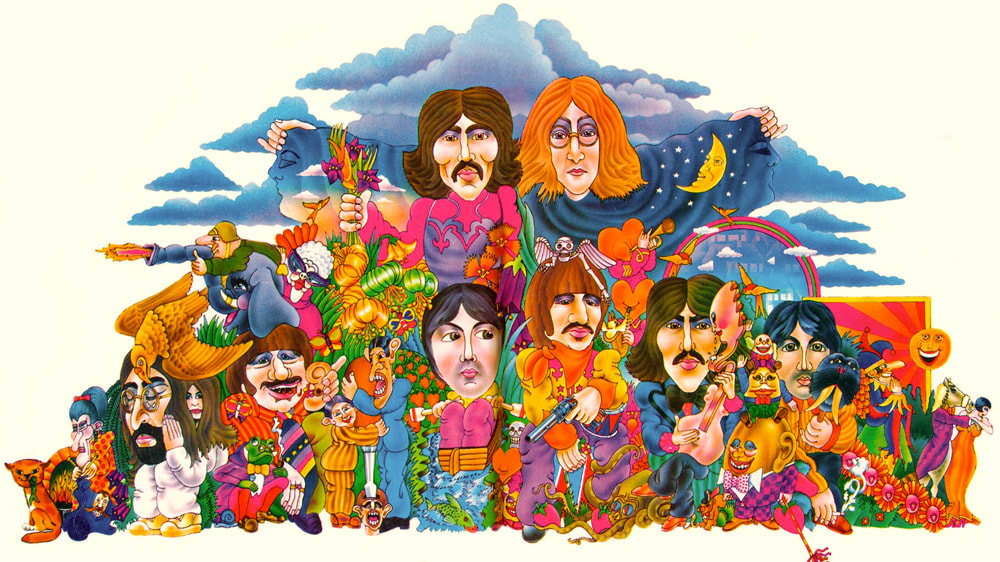 1969 The Beatles Illustrated Lyrics by Alan Aldridge. 13 Hidden Beatles Songs.