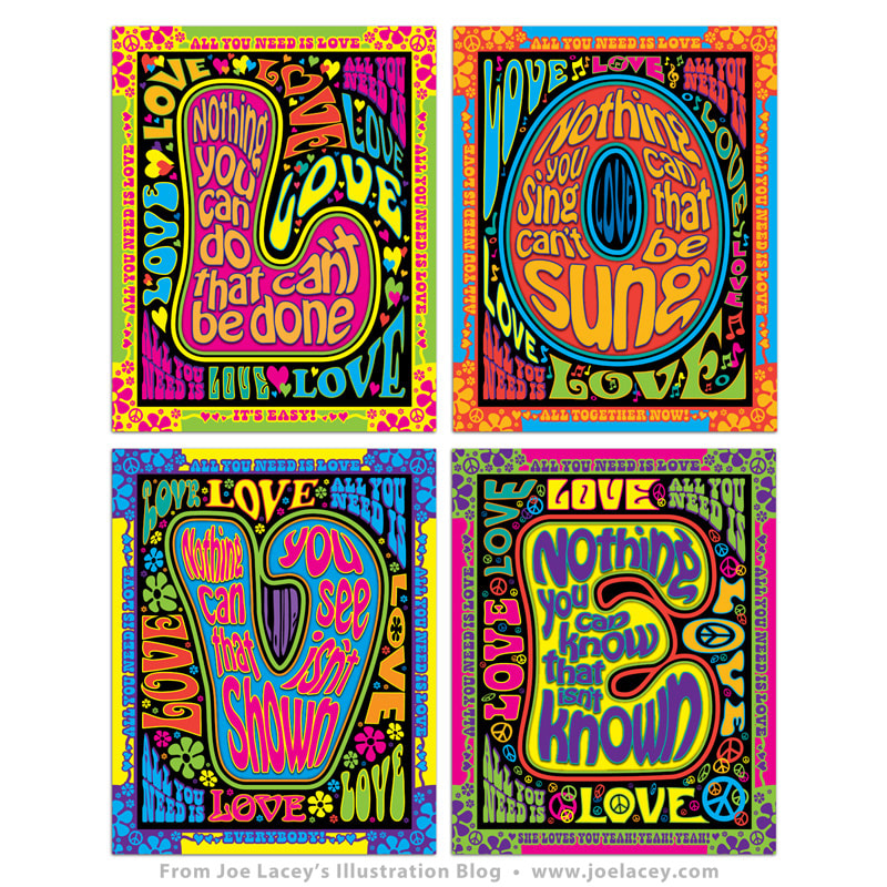 Crayola Signature Coloring Songbook: Lyrics by Lennon & McCartney 4-panel wall poster