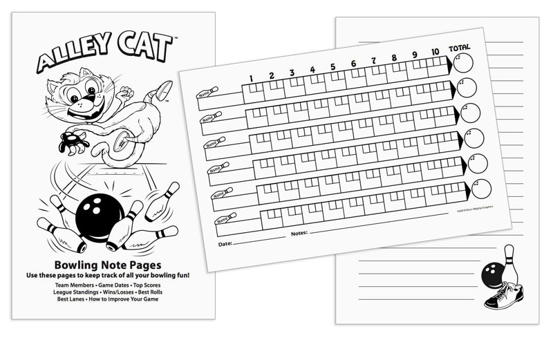 The Alley Cat Bowling Score Pad: With 100 Score Sheets and 10 Note Pages.