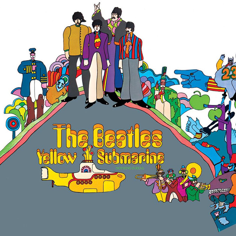 Beatles Yellow Submarine LP. Apple Records.