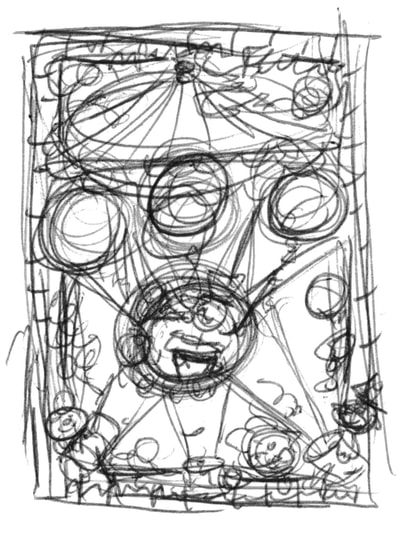 Circus classroom magazine for the National Council Of Teachers Of Mathematics demonstrating the dimensions of computational fluency. Illustrated by Joe Lacey. Thumbnail sketch.