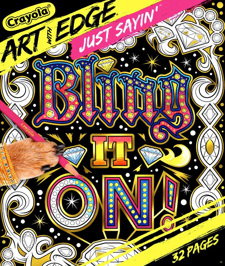 Crayola Art With Edge / Just Sayin' - Vol II: Bling It On! illustrations by Joe Lacey