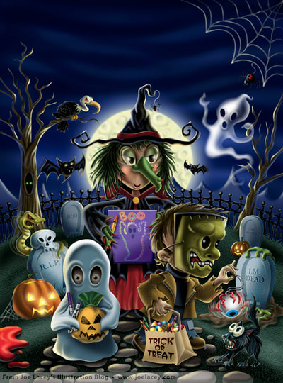 Crayola Halloween BOOklet cover  by illustrator Joe Lacey.