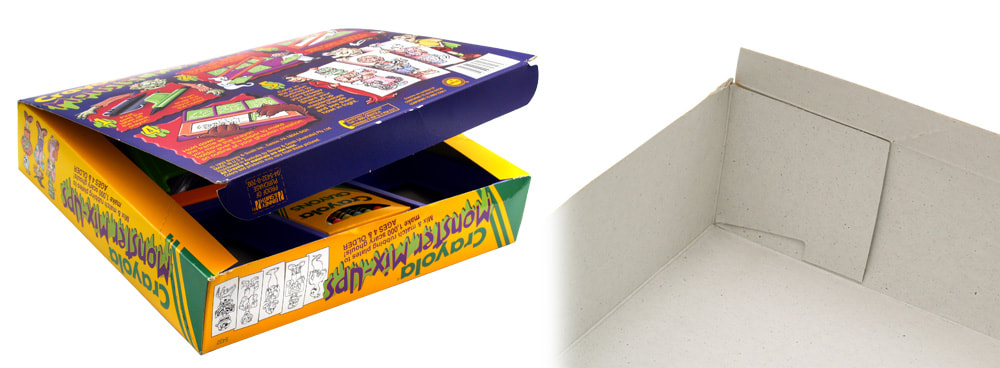 Box lid and interior for Crayola Monster Mix-Ups by Binney & Smith, Inc.