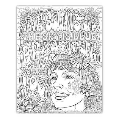 DEAR PRUDENCE Artwork by Joe Lacey for the Crayola Signature Coloring Songbook, Lyrics by John Lennon & Paul McCartney