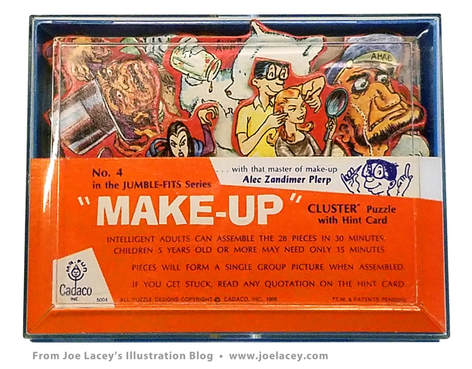 Make-Up. Cadaco Cluster Puzzles of the 1960s and 1970s by Alex D. Palmer.