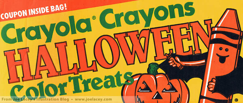 Crayola Halloween Color Treats Store Display by illustrator Joe Lacey.