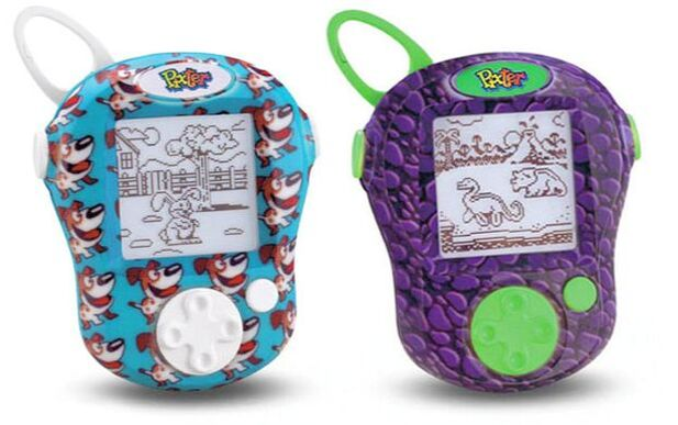 Fisher-Price POCKET PIXTER Digital Pets and DinoRaptor hand-held keychain sized video games.