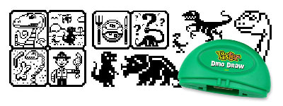 Fisher-Price PIXTER pixel art for the Dino Draw cartridge.