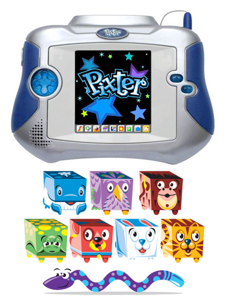 Fisher-Price Pixter Multi-Media hand held video game console.
