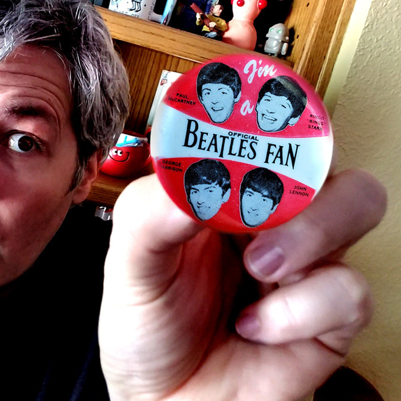 Joe Lacey - I'm a Beatles Fan Button.