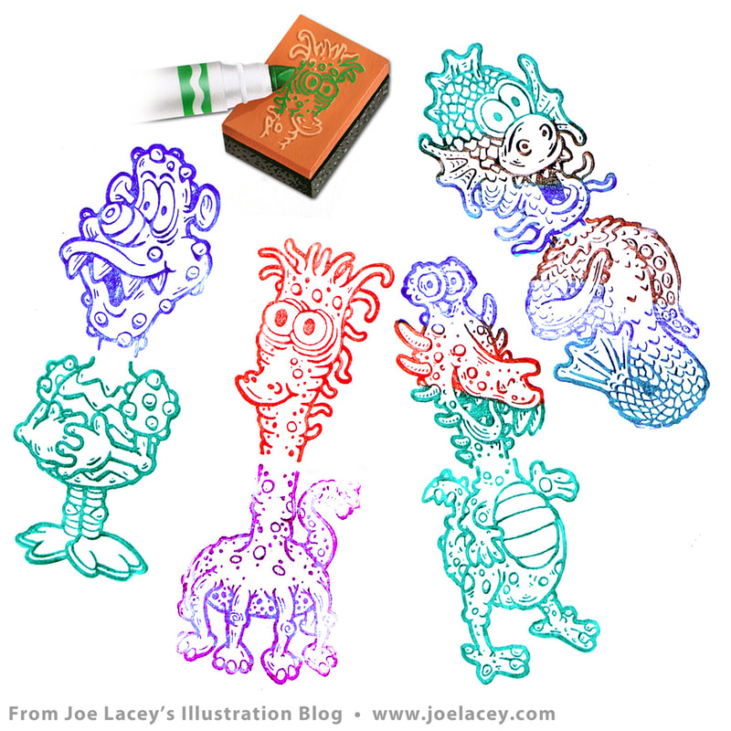Stamped images from Crayola's