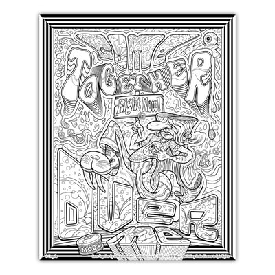 COME TOGETHER Artwork by Joe Lacey for the Crayola Signature Coloring Songbook, Lyrics by John Lennon & Paul McCartney