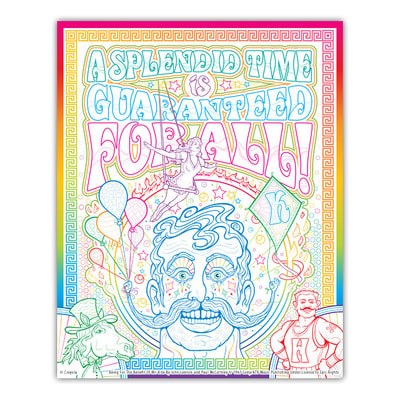 BEING FOR THE BENEFIT OF MR. KITE Artwork by Joe Lacey for the Crayola Signature Coloring Songbook, Lyrics by John Lennon & Paul McCartney