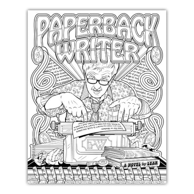 PAPERBACK WRITER Artwork by Joe Lacey for the Crayola Signature Coloring Songbook, Lyrics by John Lennon & Paul McCartney