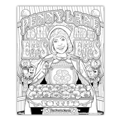 PENNY LANE Artwork by Joe Lacey for the Crayola Signature Coloring Songbook, Lyrics by John Lennon & Paul McCartney