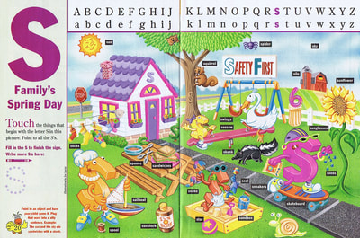 """S Family's Spring Day"" As it appeared in Sesame Street Magazine."