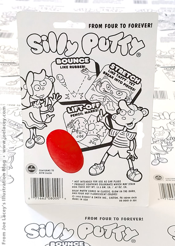 Silly Putty package and character design by illustrator Joe Lacey.